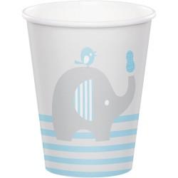 Gobelet éléphant bleu x8