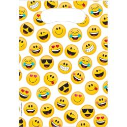 Sacs à bonbons smiley x8