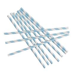 Pailles chevron bleu x25