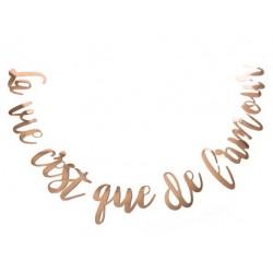 """Guirlande """"la vie c'est que de l'amour"""" rose gold"""