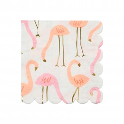 Petites serviettes flamants roses x16
