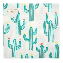 Serviettes cactus x20
