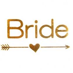 Tatouage temporaire BRIDE or