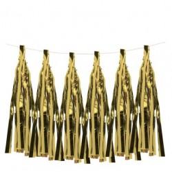 6 Tassels dorées