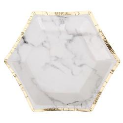 Petites assiettes effet marbre x8