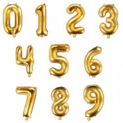 Ballon chiffre doré - 36cm
