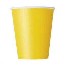 Gobelet jaune x8