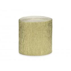4 Rouleaux papier crépon or - 10m