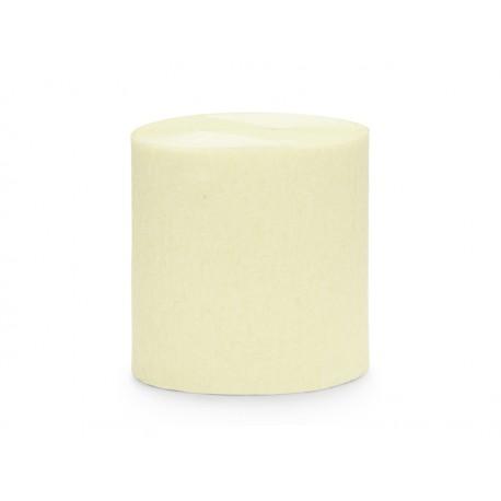4 Rouleaux papier crépon crème - 10m