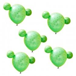 5 Ballons cactus - 28cm