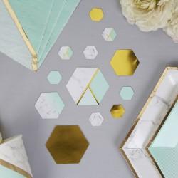 Confetti de table marbre et menthe